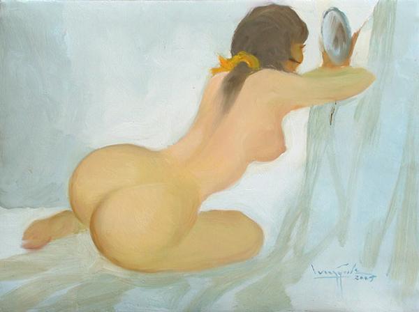 Artist: U Lun Gywe  Title: Nude I