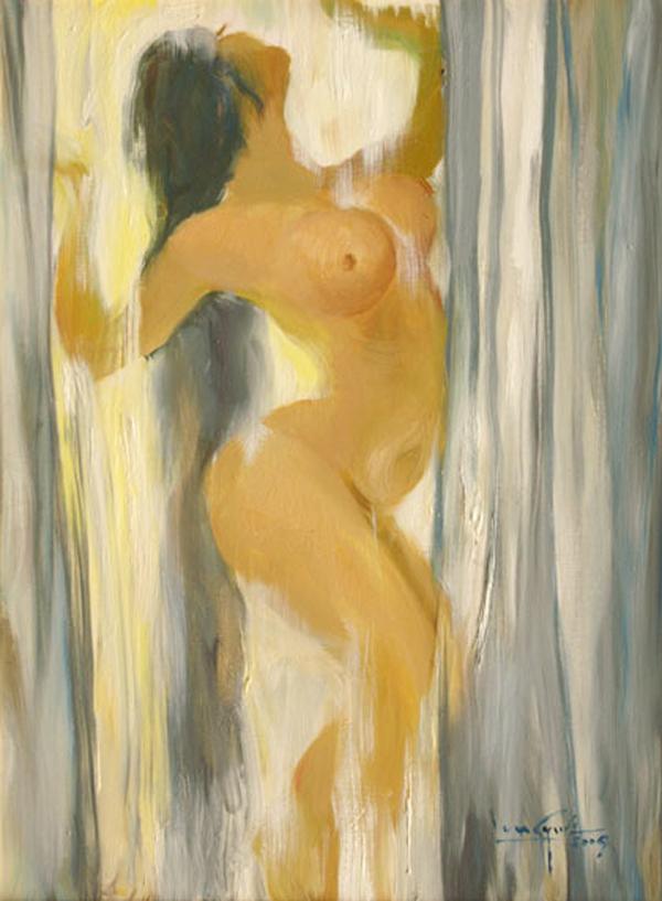 Artist: U Lun Gywe  Title: Nude in the Bath