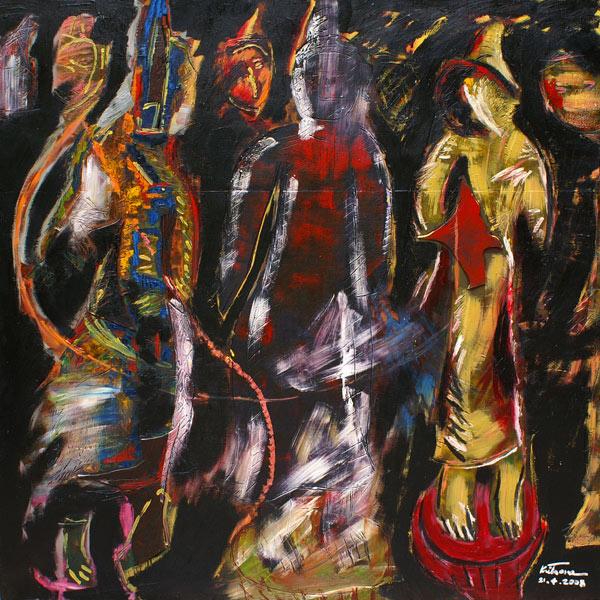 Artist: Kritsana Chaikitwattana  Title: Me and the Buddha (1)