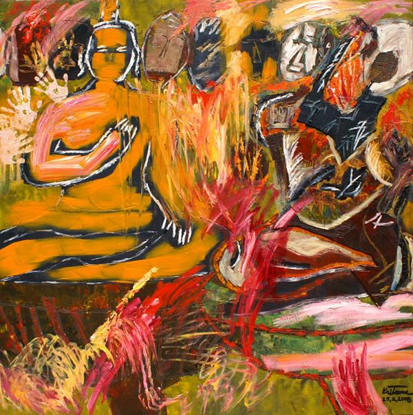 Artist: Kritsana Chaikitwattana  Title: Me and the Buddha (2)